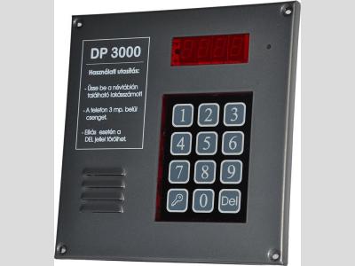 DP 3000 kaputelefon központ kezelő kártyás beléptetővel síkmágnes vezérlővel