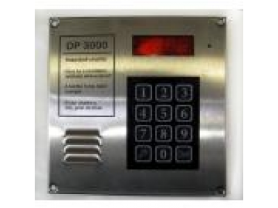 DP 3000 kaputelefon központ kezelő kártyás beléptetővel síkmágnes vezérlővel INOX