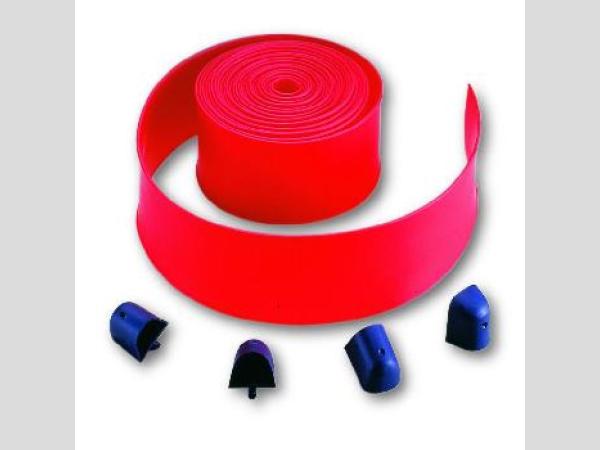 Piros gumiszegély