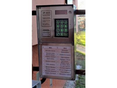 DP3000 társasházi kaputelefon inox kivitelben