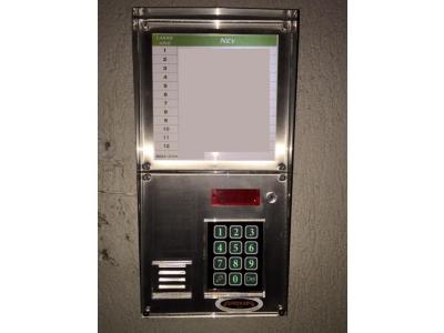 Dp 3000 kaputelefon kártyás központ, inox, függőleges kivitel